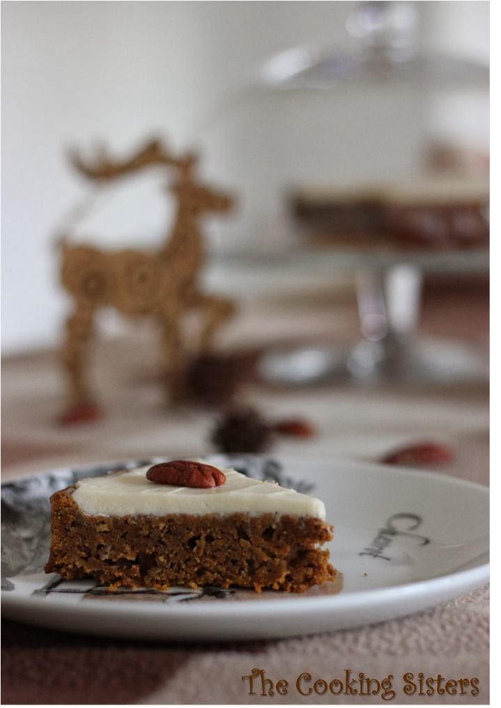 Carrot cake et gla age au cream cheese - Julie cuisine le monde ...