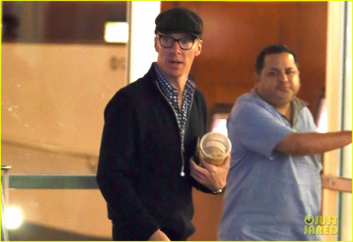 Benedict Cumberbatch leaves the ArcLight Cinemas after catching a movie with a pal in Hollywood