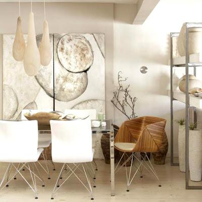 Sala de estar madeira e branca