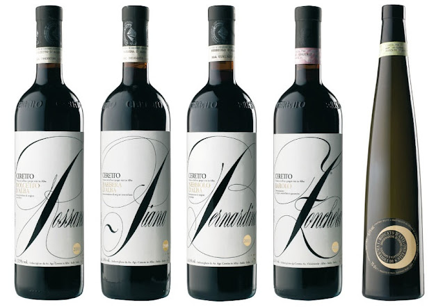 Ceretto's wines