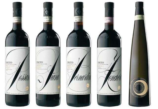 Ceretto's wines