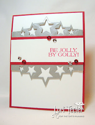 Be Jolly, By Golly-designed by Lori Tecler-Inking Aloud-stamps and dies from The Cat's Pajamas