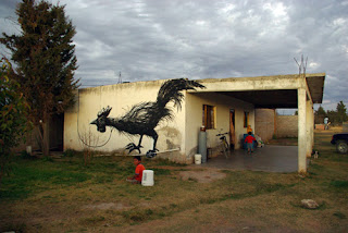 Muralist, Rooster, Mexico