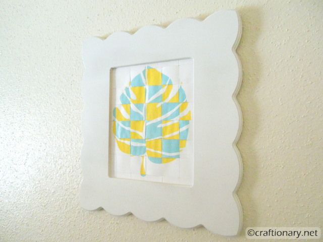 woven paper weave frame wall decor