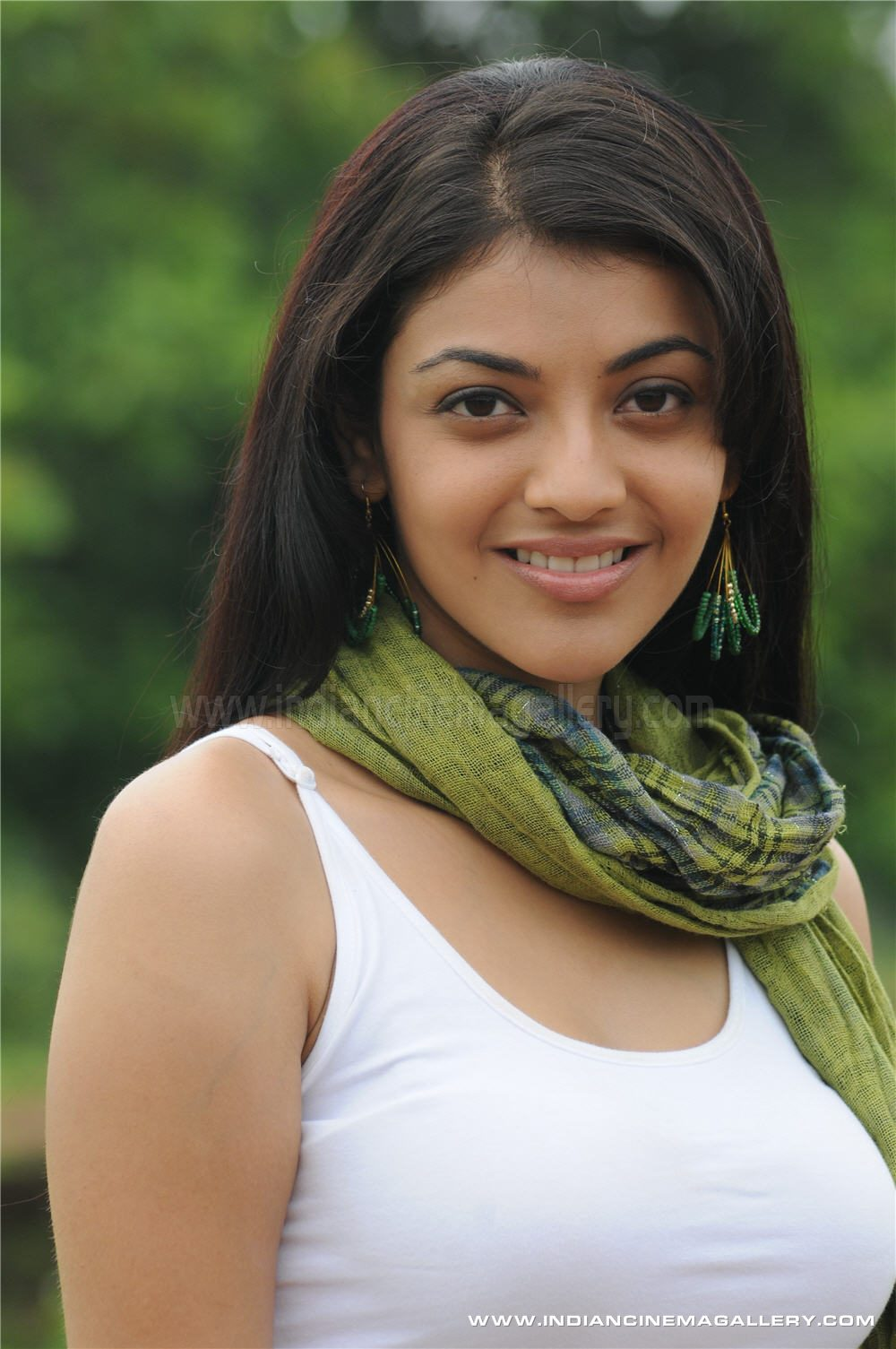 Kajal Agarwal Cute Stills Yellow Dress