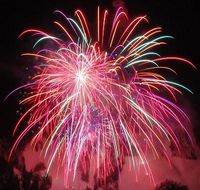 New Years Eve 2011 Fireworks Over Aspen