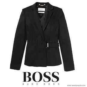 Queen Letizia Style HUGO BOSS Cegina Cashmere Coat