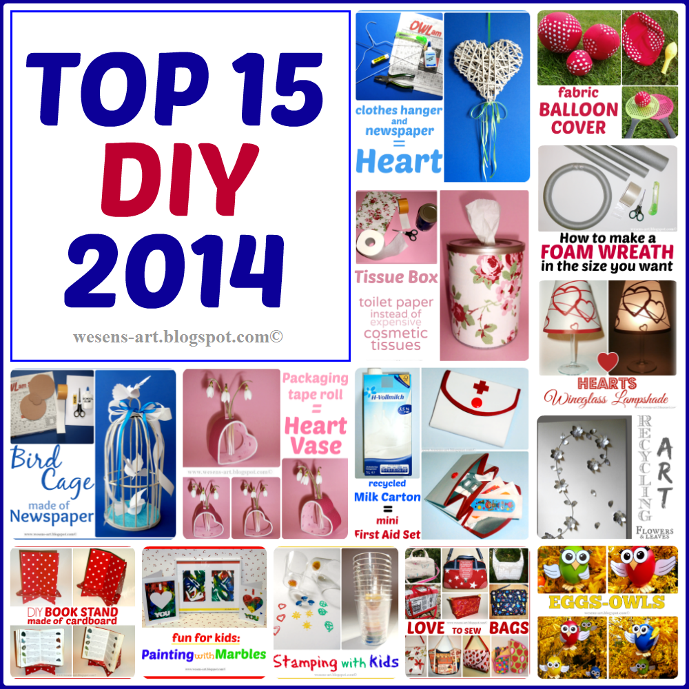 TOP 15 DIY 2014 wesens-art.blogspot.com