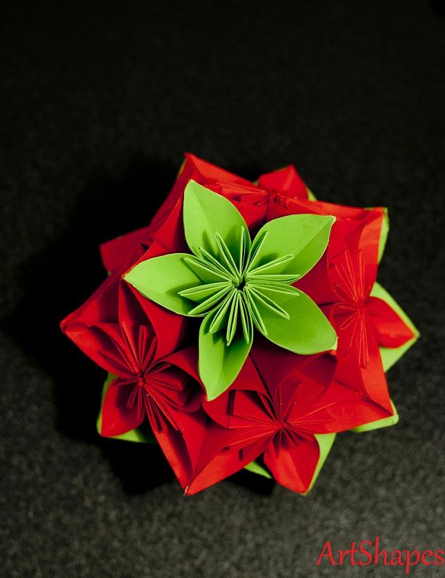 Origamibijoux decoratiuni de craciun origami - Origami weihnachtsdeko ...