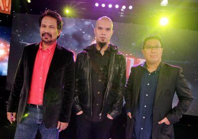 Komposer Mania iaitu Datuk M Nasir Ahmad Dhani dan Aubrey Suwito