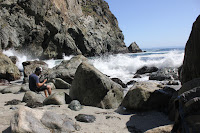 Big Sur ocean hike rocky shore beach tide pools