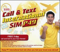 SUN Call & Text International SIM