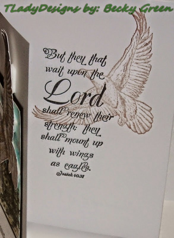 Our Daily Bread designs On Eagles' Wings, Customer Card of the Day by Becky Green aka TLady