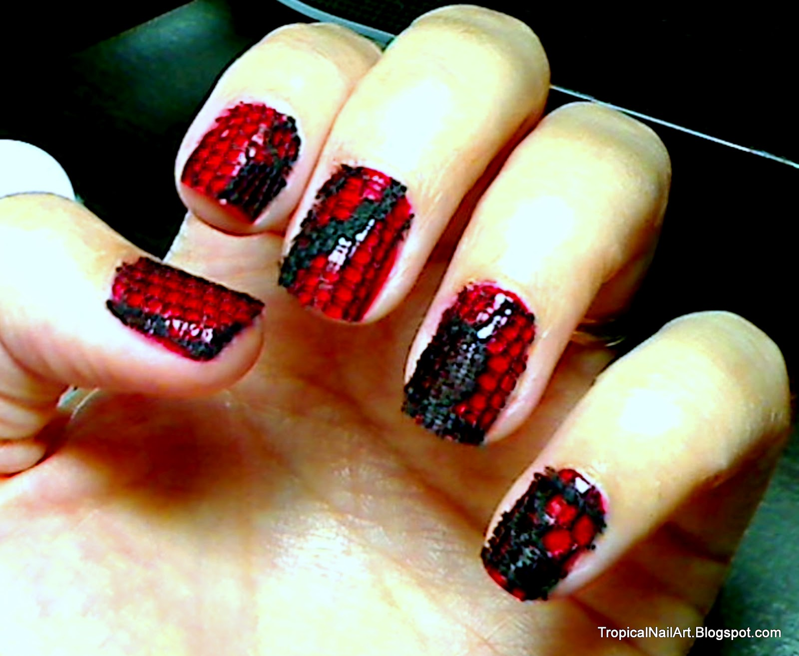 Tropical Nail Art Catwoman