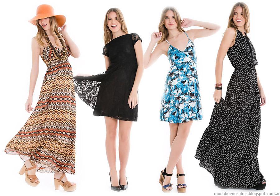 Vestidos primavera verano 2015. Moda primavera verano 2015 City Argentina.