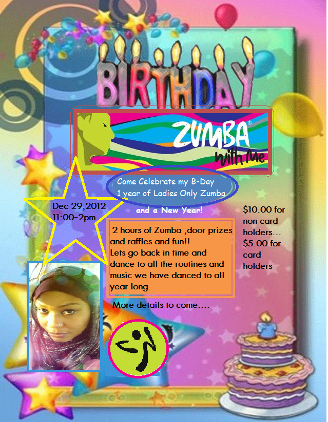 Ladies only fitness special events and zumbathons zumba new years birthday party stopboris Images