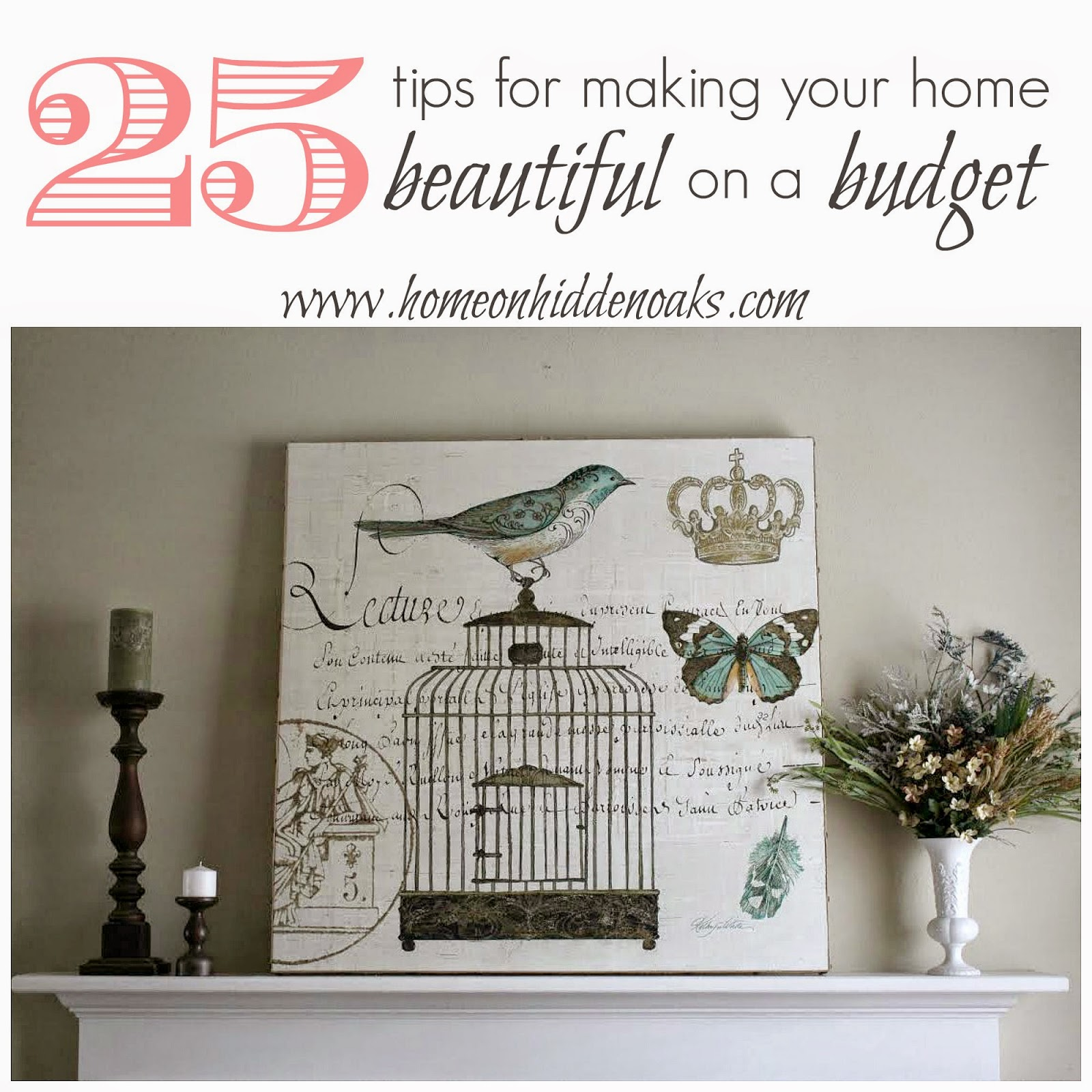 Home on hidden oaks 25 tips to make your home beautiful for Tips for building a house on a budget