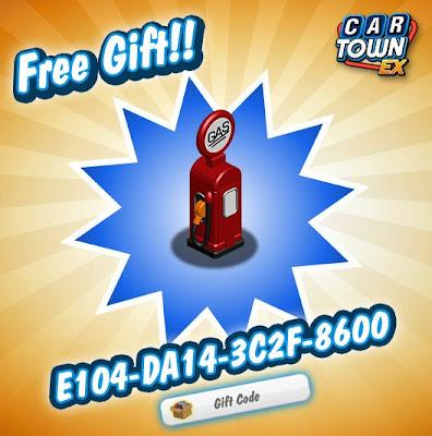 Car Town EX Free Gift Bomba de gas