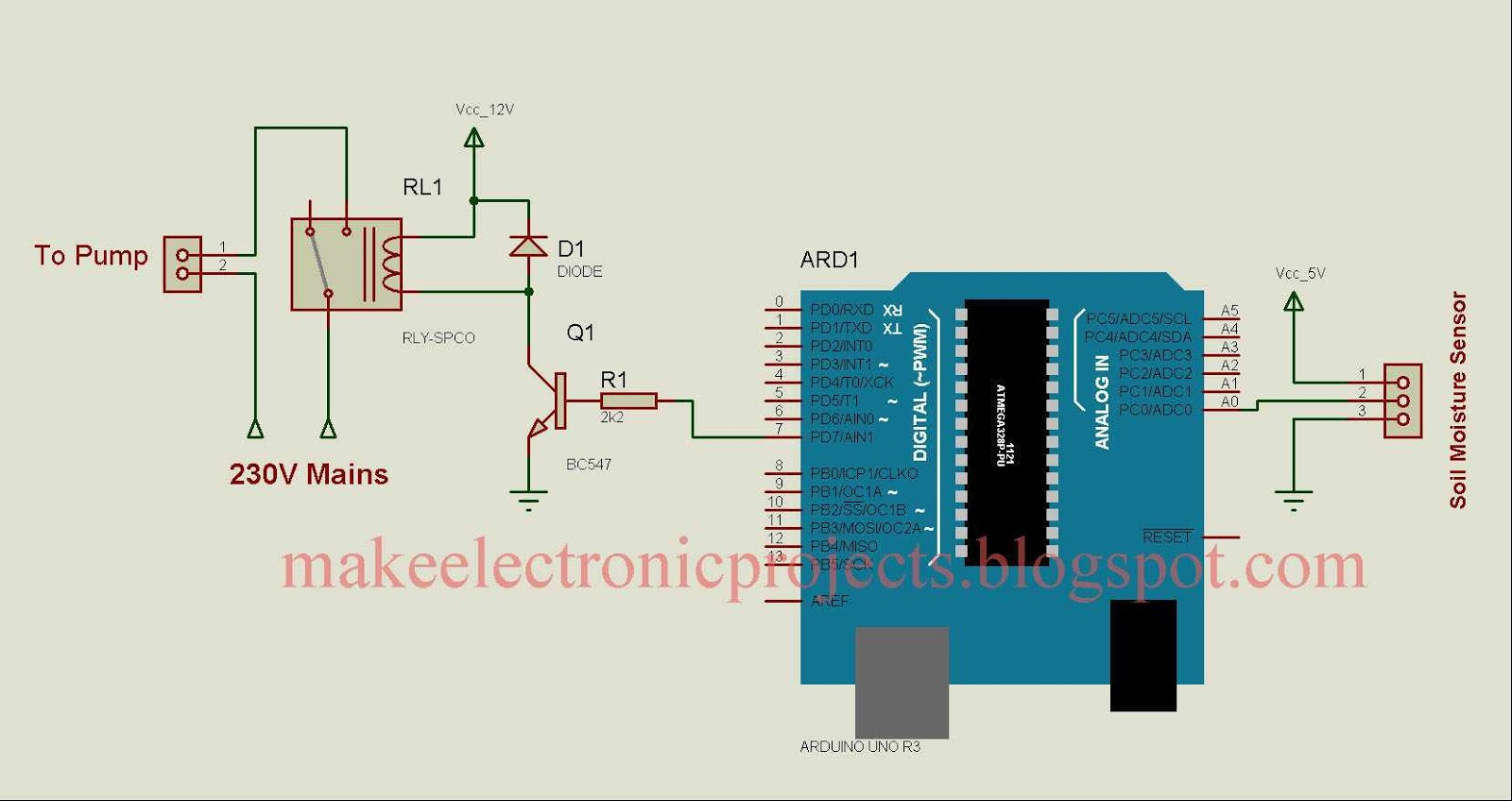 Automatic Plant Watering Using Soil Moisture Sensing Crazy For Arduino Uno Wiring Diagram Circuit