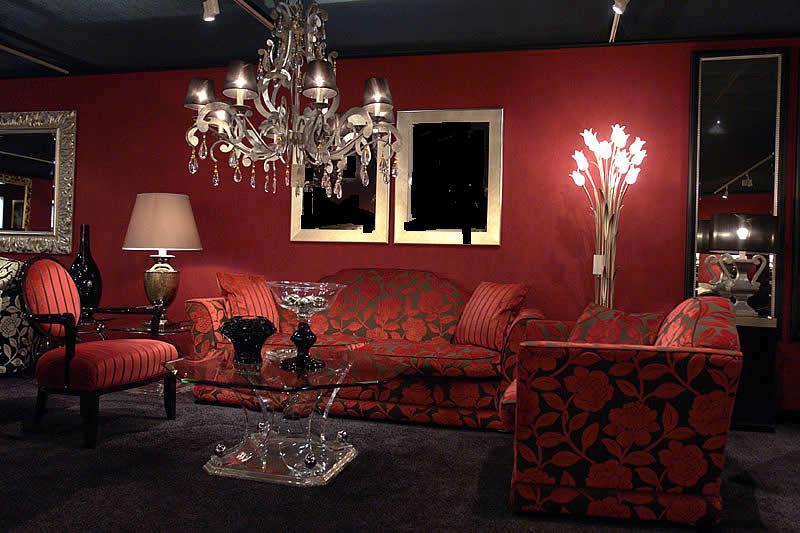 Interior Design Drawing Room Furniture ~ Living room interior design with red furniture