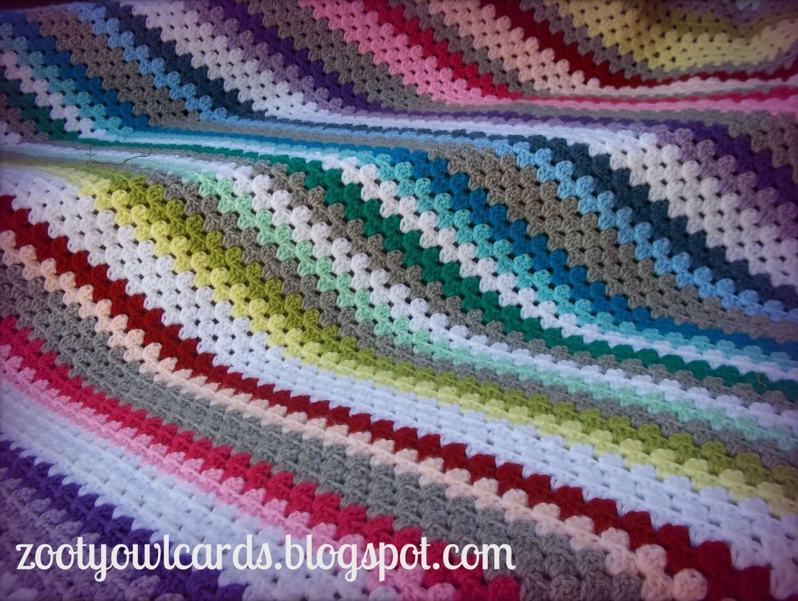 Zooty Owls Crafty Blog Rainbow Candy Diagonal Granny Stripe