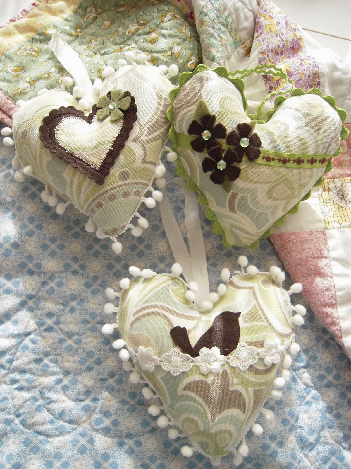 Hand Made Heart Pillows