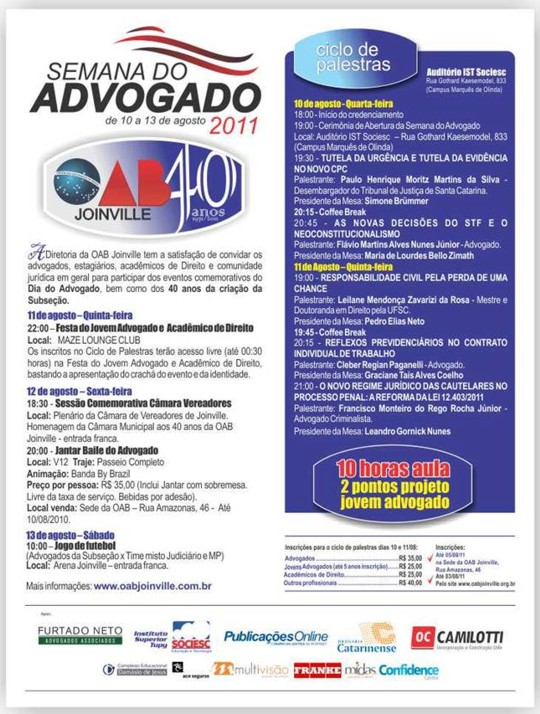 OAB - Semana do Jovem Advogado 2011...
