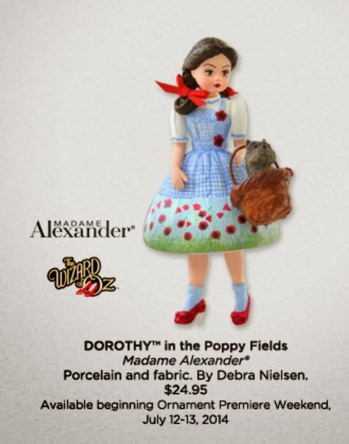 wizard of oz hallmark ornaments 2014