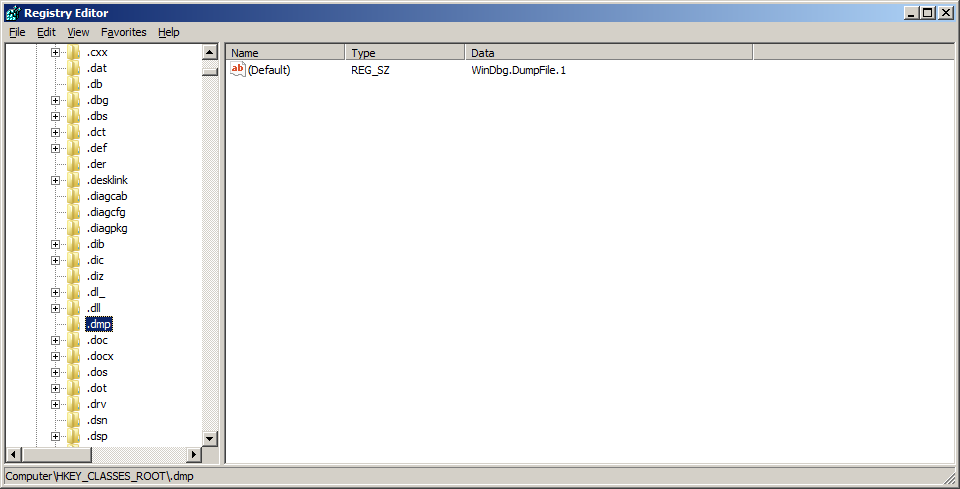 how to open dmp file extension