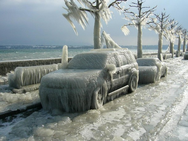 Ice Storm in Geneva Switzerland