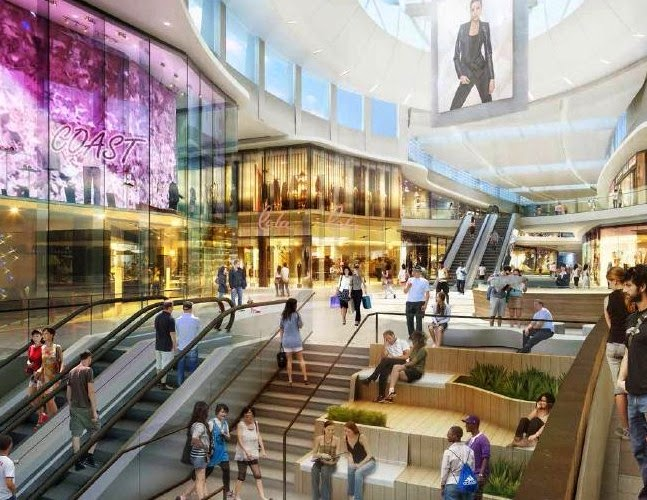 Another Rendering This Of The New Upscale Enclosed Mall Shows Entry Into 2 Level Area As It Would Appear When Coming From Centers