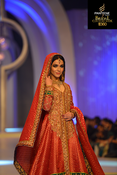 Humaima In Zaheer Abbas, Pantene Bridal Couture Week 2013, Pakistani Model
