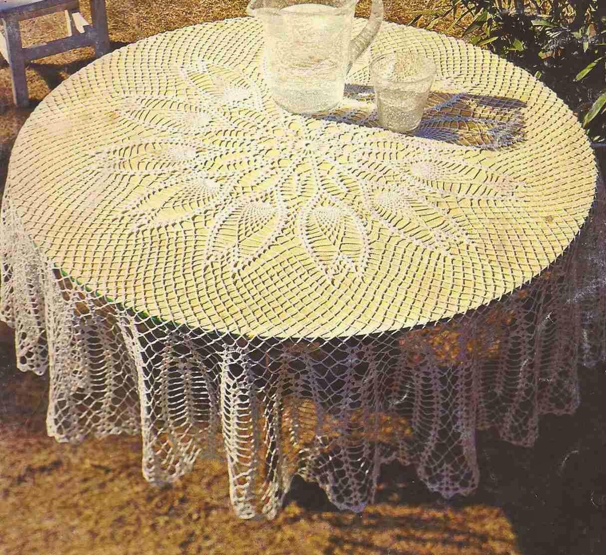 """Mantel Redondo """"Los Tulipanes"""" a Crochet"""