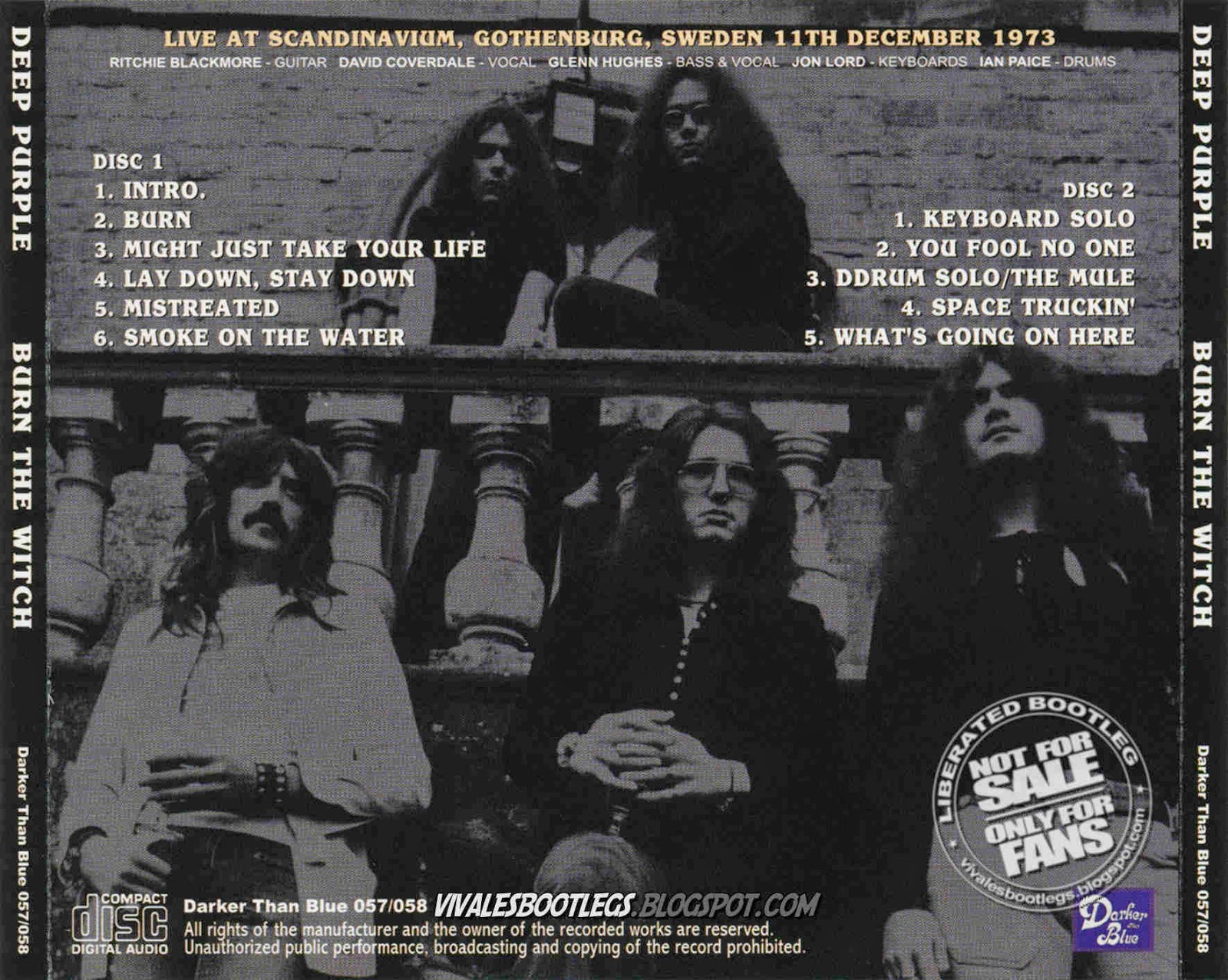 Deep Purple Burn the witch back cover