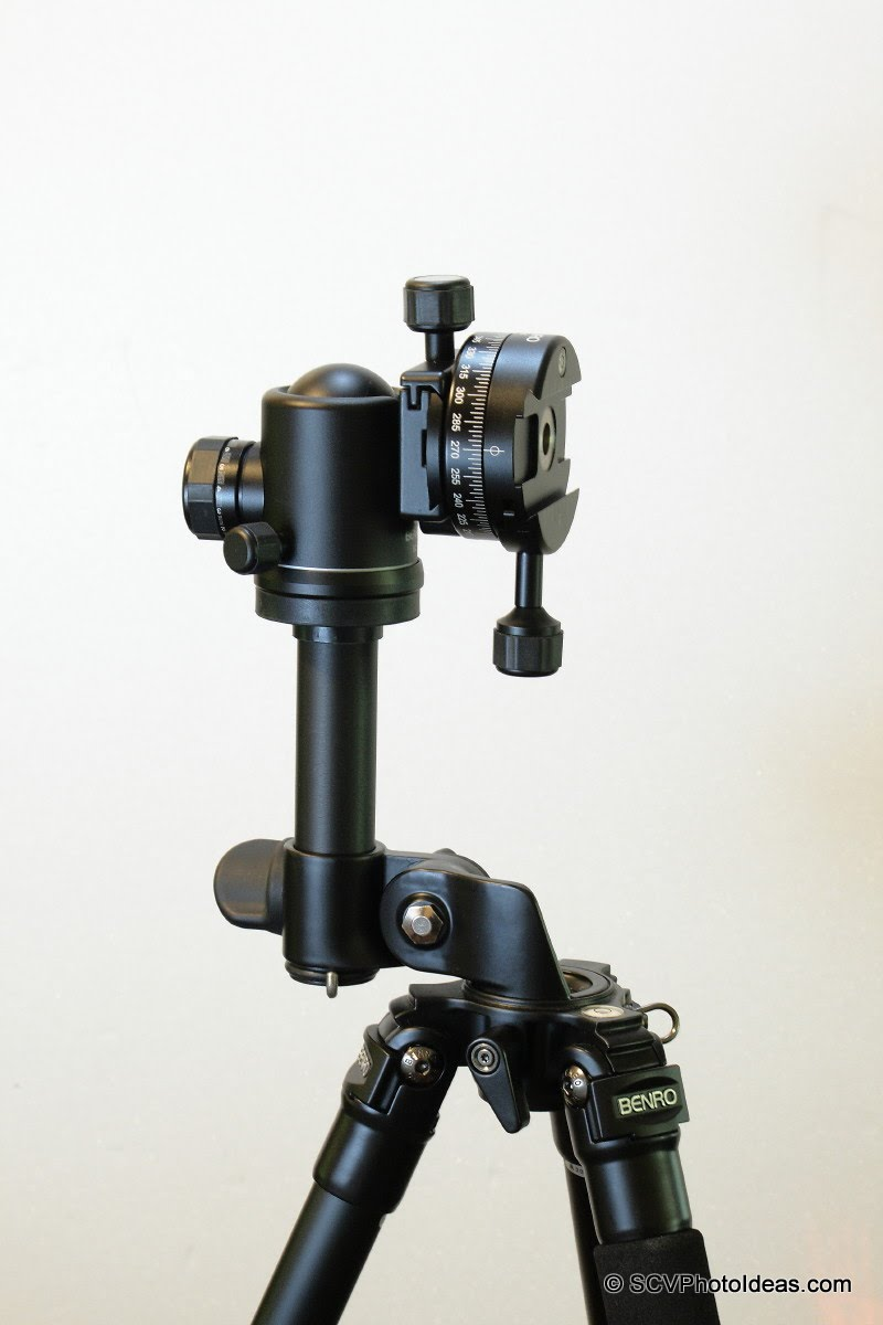 Benro AC-33 Short Column used in an Alternative Gimbal head