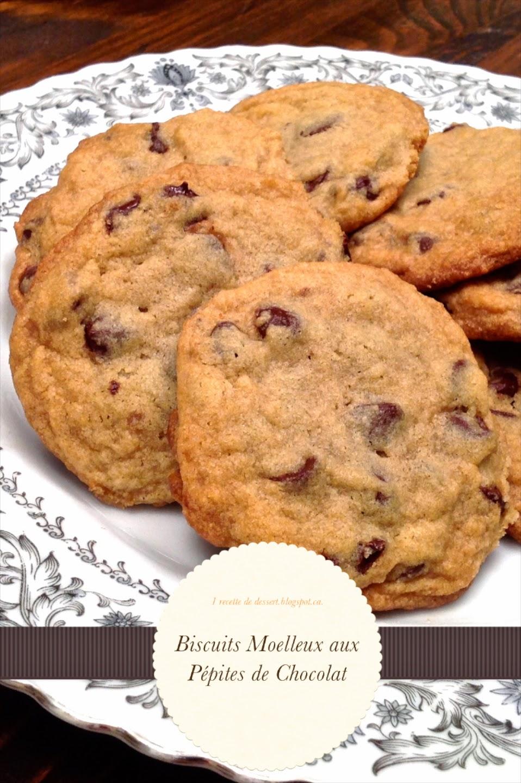 1 recette de dessert biscuits moelleux aux p pites de chocolat. Black Bedroom Furniture Sets. Home Design Ideas