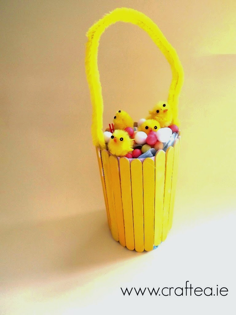 Ice Cream Stick Easter Basket