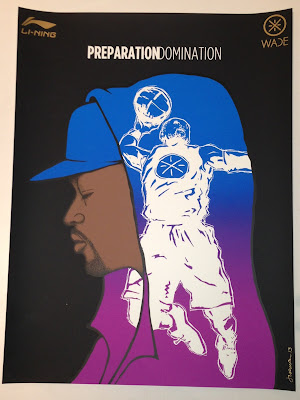 "Dwayne Wade x Li-Ning ""Preparation/Domination"" NBA 2013 All-Star Weekend Screen Print by Jermaine Rogers"