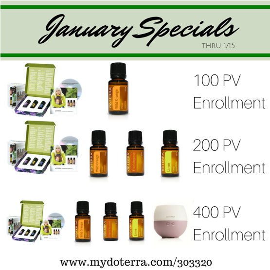 January enrollment  incentives from Green Lviing Ladies Team and Mlaika Bourne