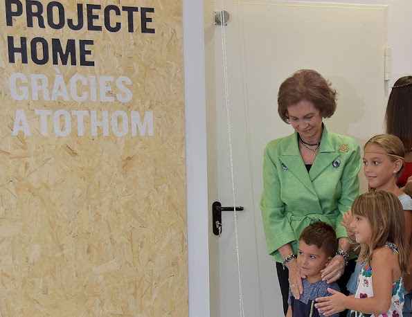 Queen Sofia of Spain inaugurates the new offices of 'Proyecto Hombre' NGO