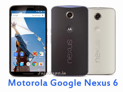 Motorola Google Nexus 6: 6 inch AMOLED,2.7GHz Quad core Android Lollipop Smartphone Specs, Price