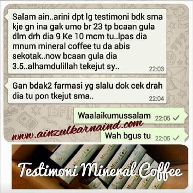 testimoni Mineral Coffee