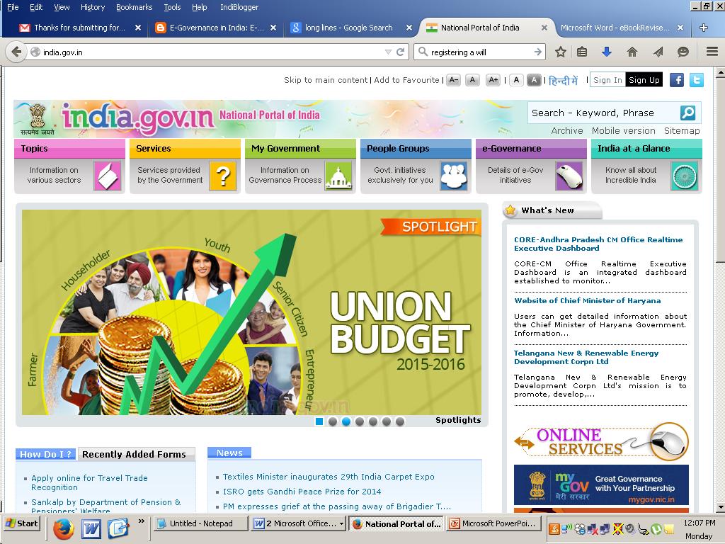 www.india.gov.in
