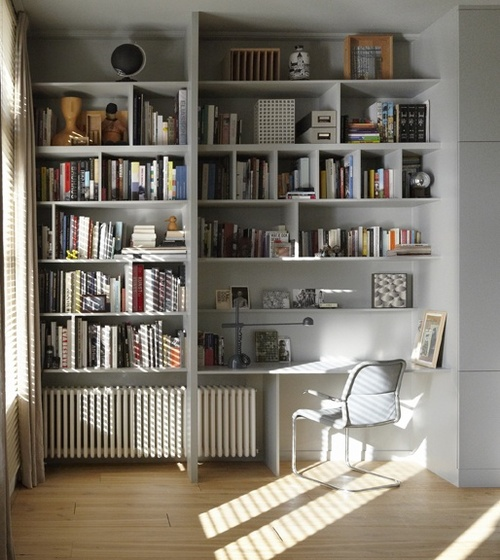 great built in desk and bookshelves bookshelves office great