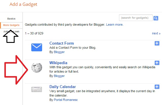 Cara Membuat Widget Kotak Search Wikipedia pada Blog