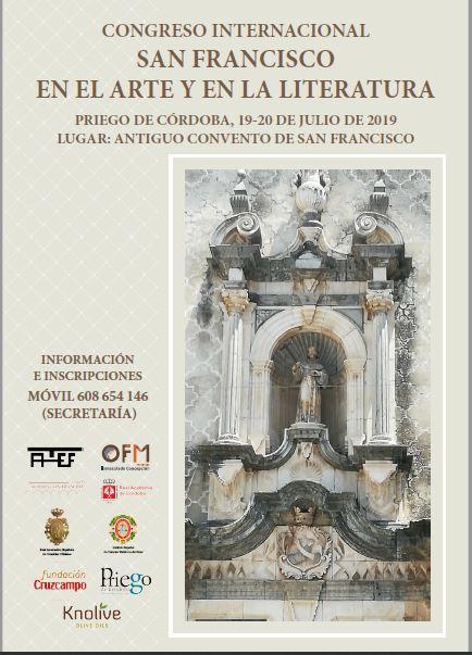 """Congreso Internacional """"San Francisco en el Arte y la Literatura"""", 19 y 20 de junio 2019"""