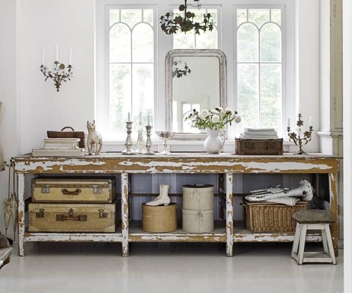 Country Flea Market Style Decorating White Vintage Ecelctic Home. Country Decorating Ideas Flea Market Style Pictures to Pin on