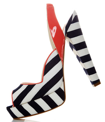 nautical platform shoes in stripes