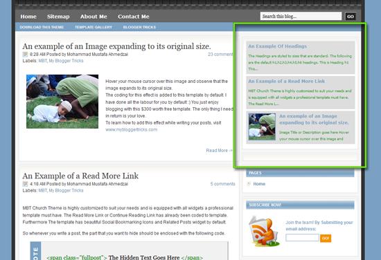 rotating popular post widget for blogspot