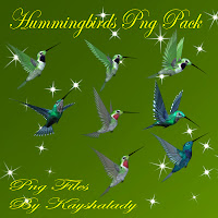Hummingbirds PNG tubes